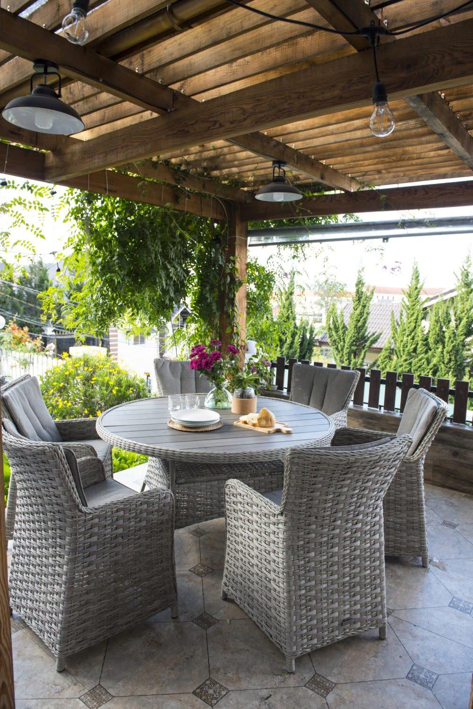Lifestyle Garden Samoa 6 Seat Round Dining Set - Burleydam ...